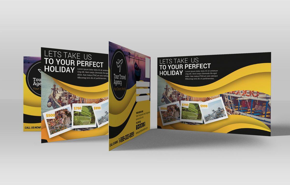Travel Agency PostCard, Diapositive 2, 08666, Business — PoweredTemplate.com