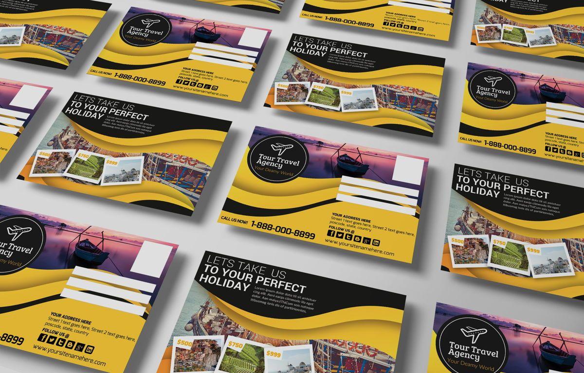 Travel Agency PostCard, Diapositive 3, 08666, Business — PoweredTemplate.com