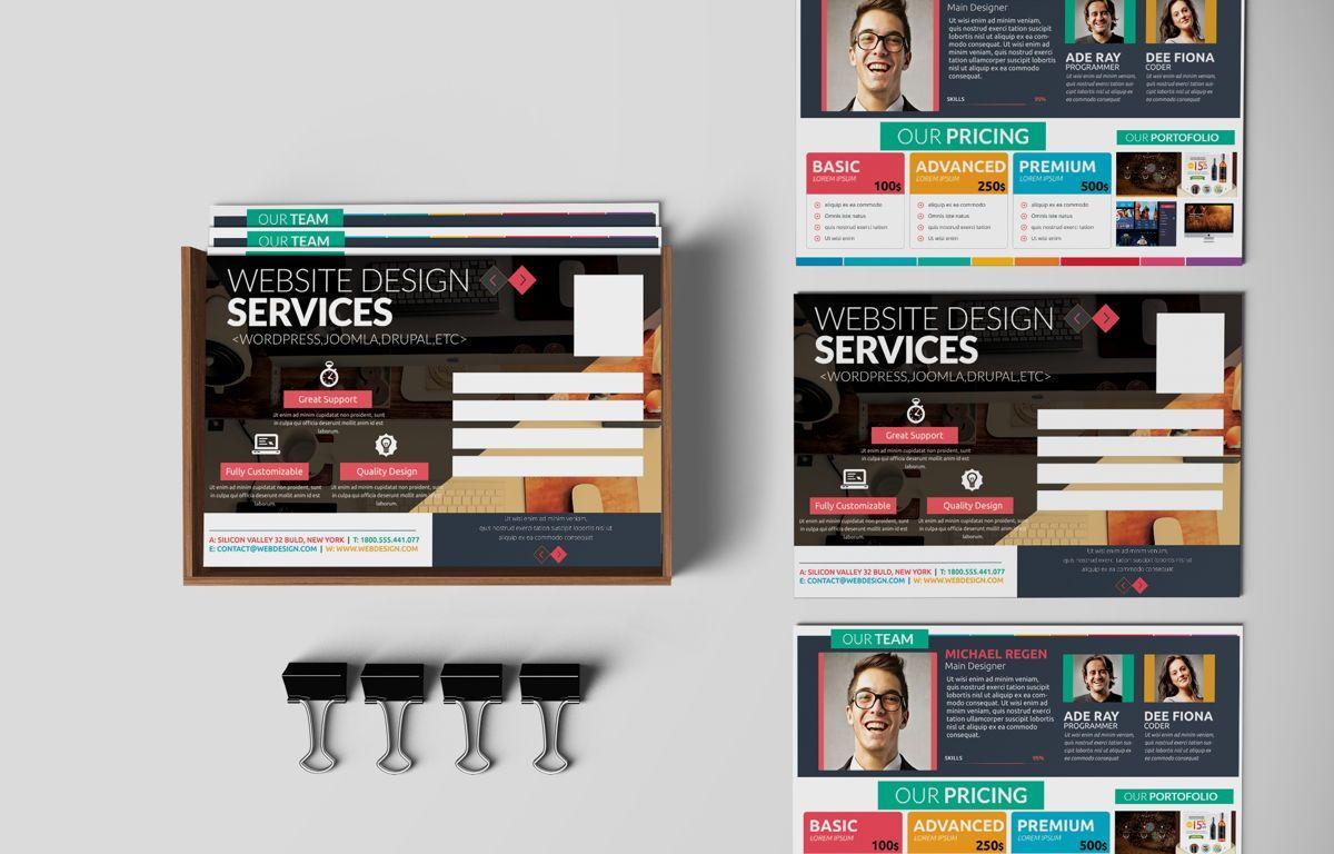 Web Designer PostCard, 08668, Business — PoweredTemplate.com