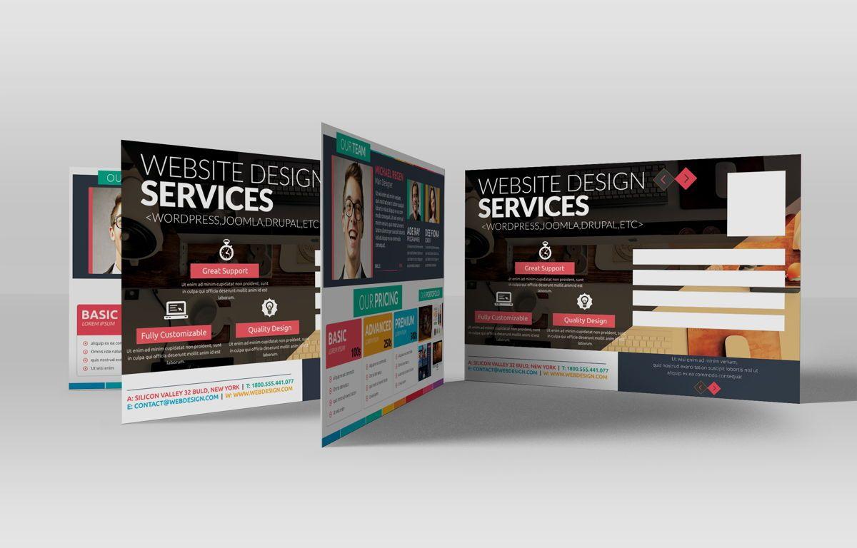 Web Designer PostCard, Slide 2, 08668, Business — PoweredTemplate.com