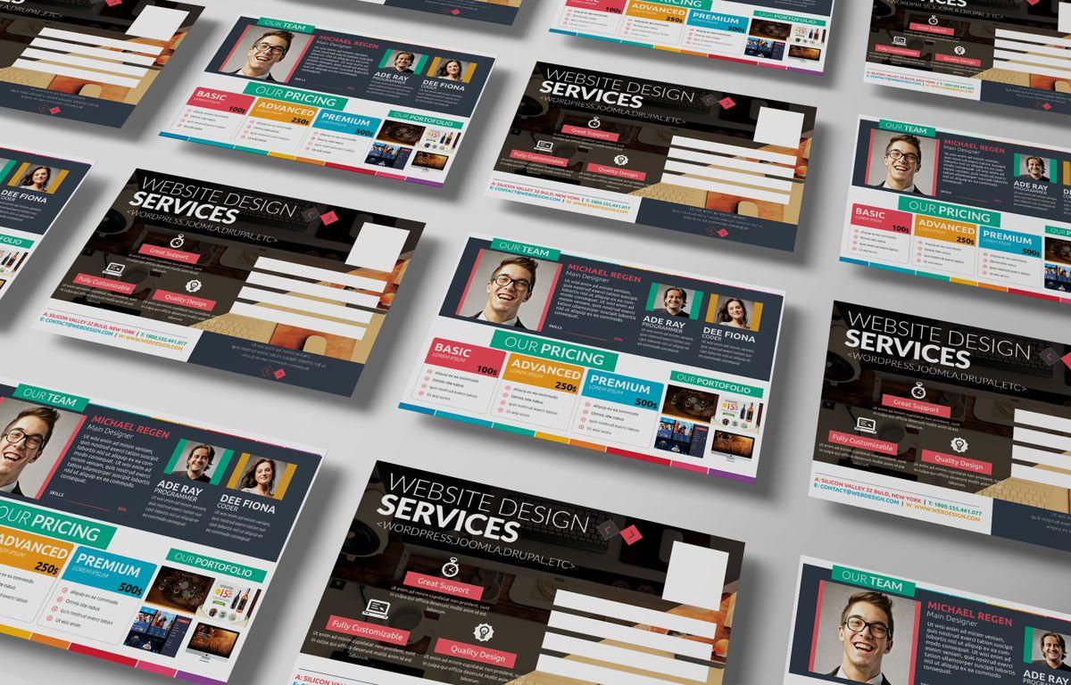 Web Designer PostCard, Slide 3, 08668, Business — PoweredTemplate.com