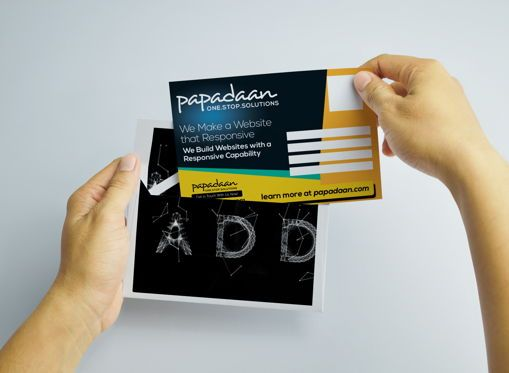 Business: Website Studio Promotion PostCard #08670