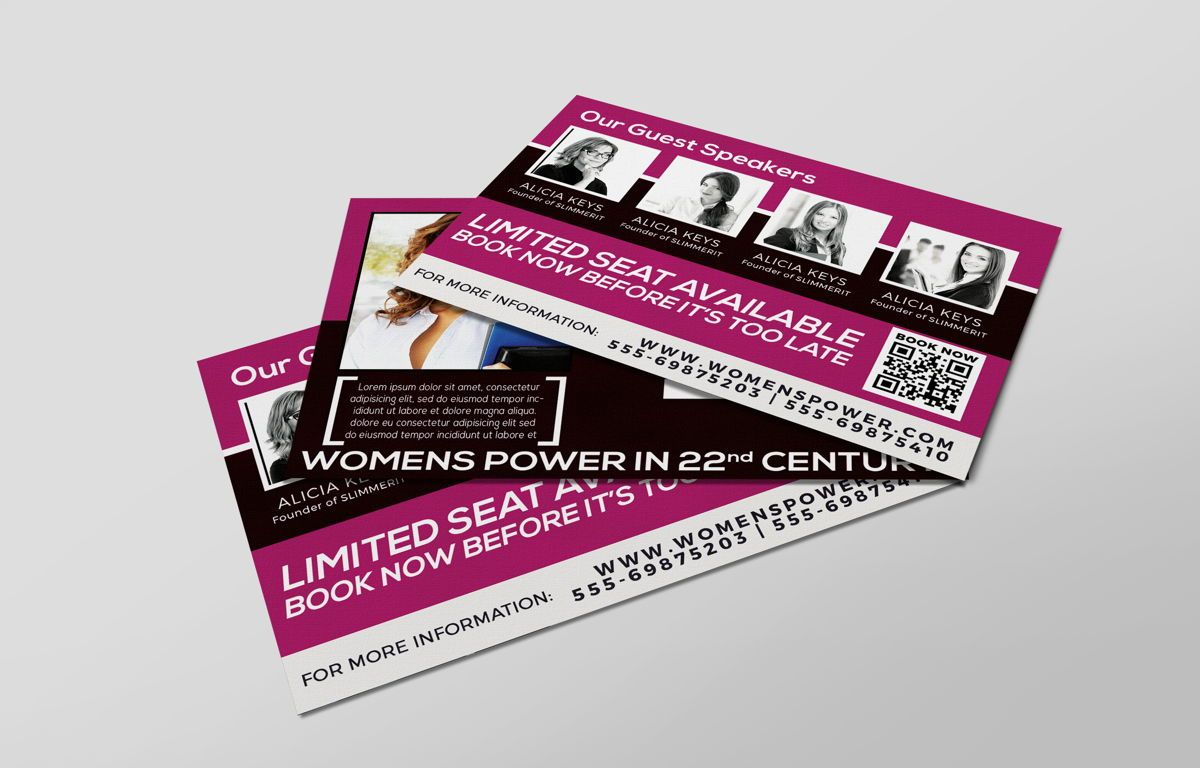 Women Conference PostCard, Slide 6, 08674, Business — PoweredTemplate.com