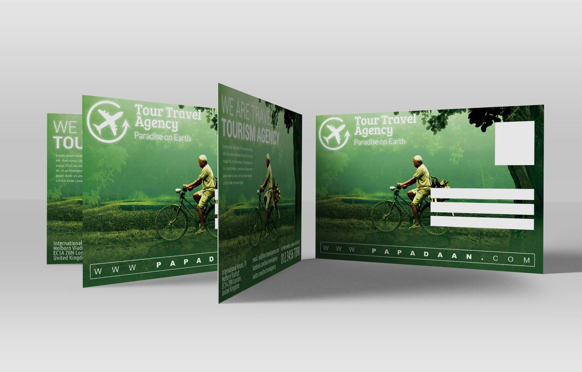 Travel and Tourism PostCard, 08675, Business — PoweredTemplate.com