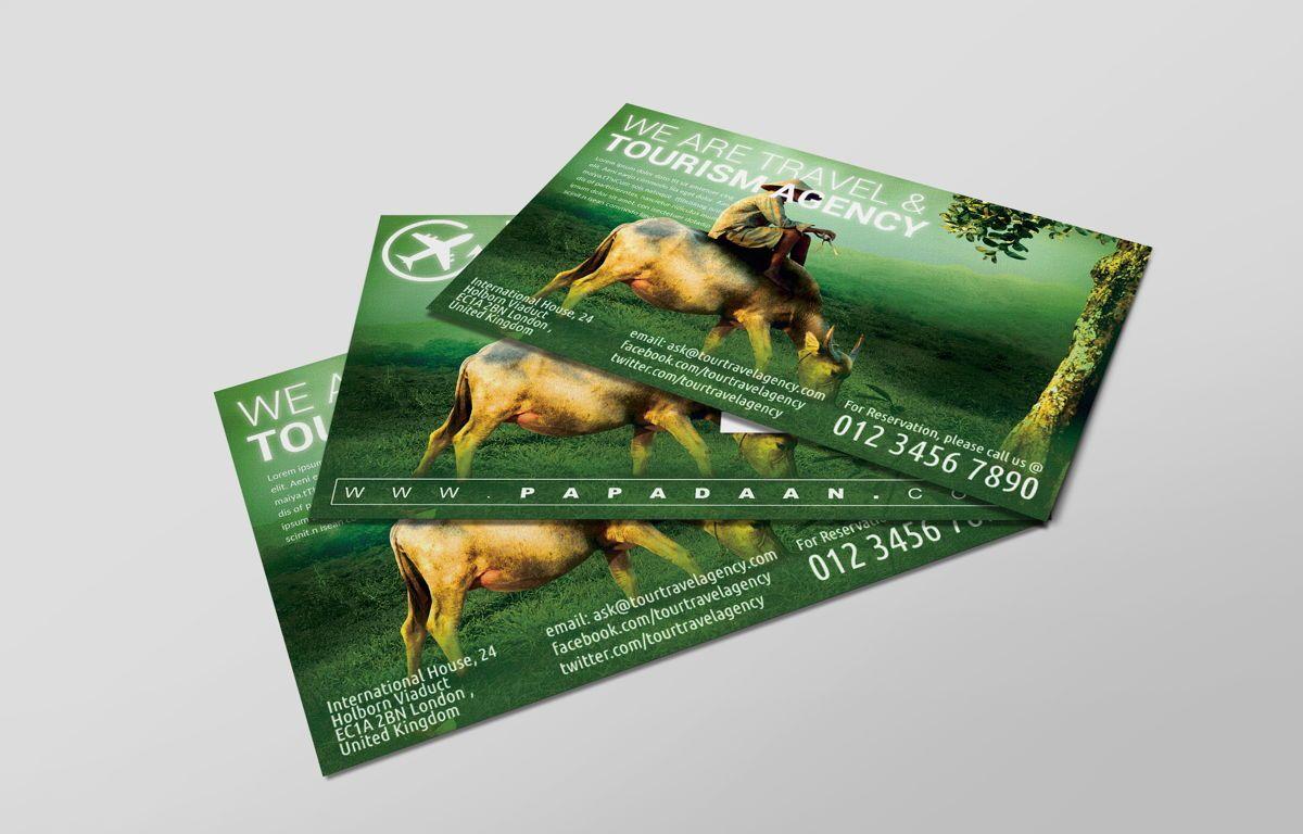 Travel and Tourism PostCard, Diapositive 2, 08675, Business — PoweredTemplate.com