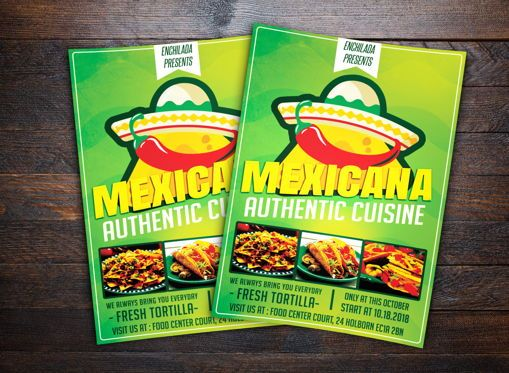 Food & Beverage: Mexican Restaurant Flyer #08678