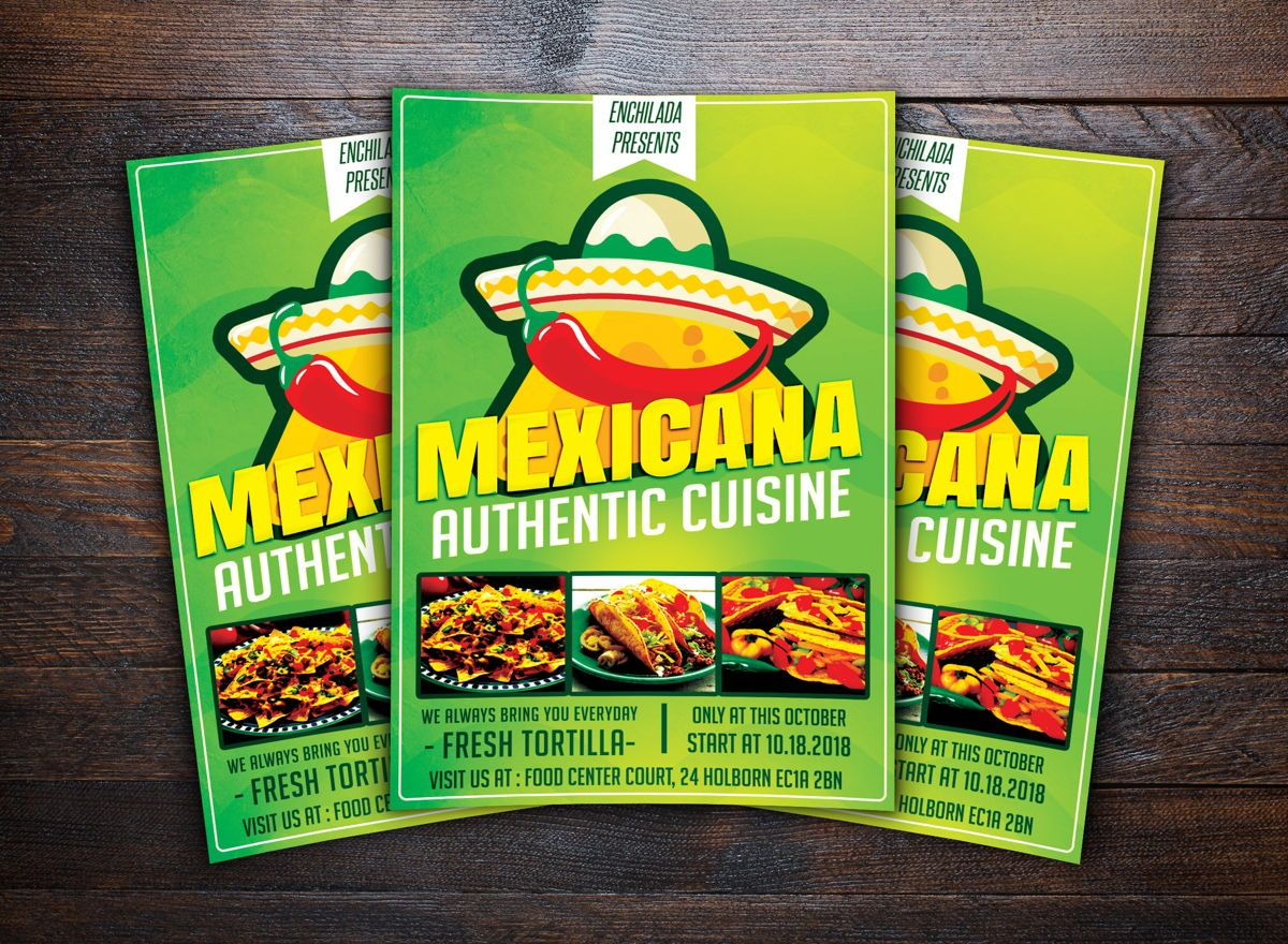 Mexican Restaurant Flyer, Slide 2, 08678, Food & Beverage — PoweredTemplate.com