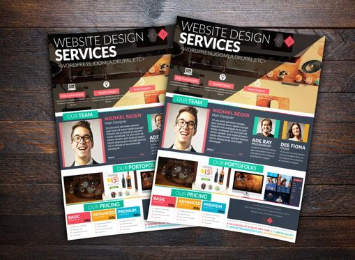 Business: Minimal Web Designer Flyer #08679
