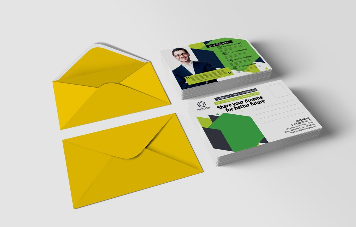 Minimalist Corporate PostCard, Diapositive 2, 08680, Business — PoweredTemplate.com
