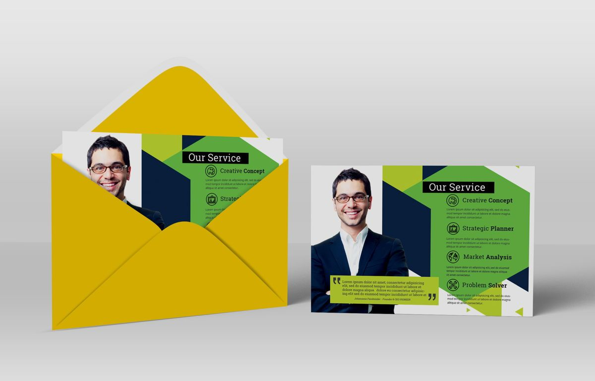 Minimalist Corporate PostCard, Diapositive 4, 08680, Business — PoweredTemplate.com