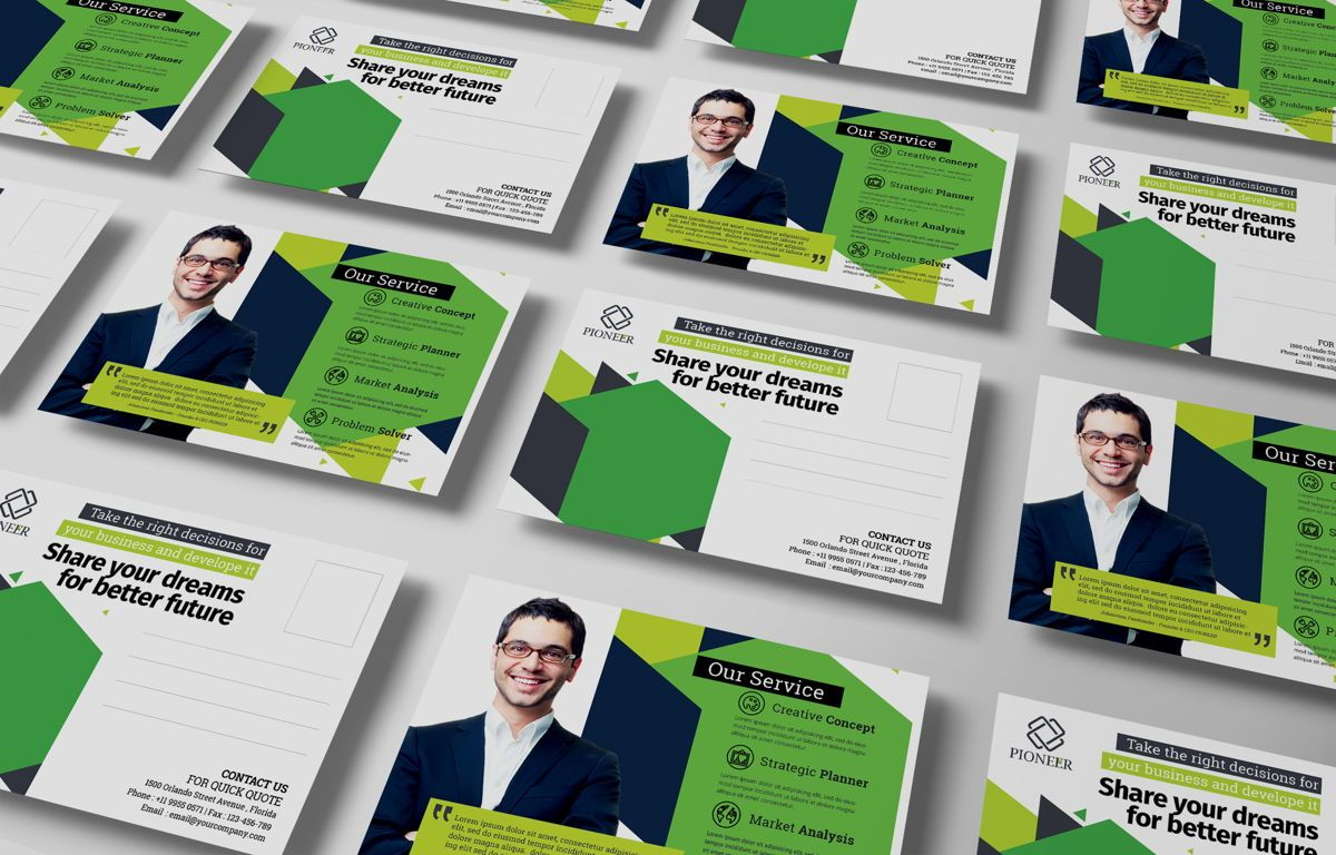 Minimalist Corporate PostCard, Diapositive 5, 08680, Business — PoweredTemplate.com