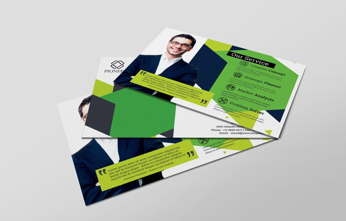 Minimalist Corporate PostCard, Diapositive 6, 08680, Business — PoweredTemplate.com