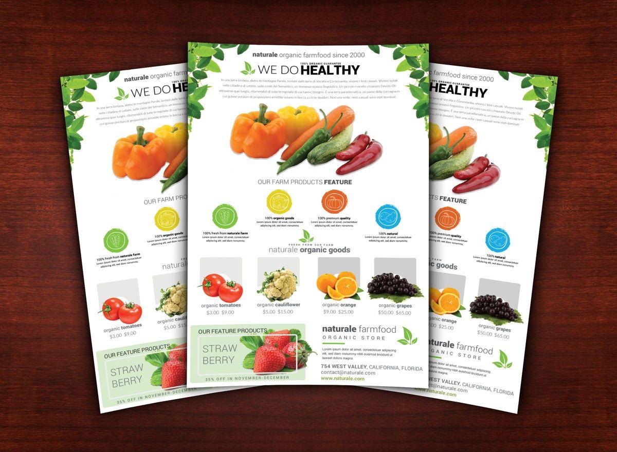 Organic Farm Flyer Template, Slide 2, 08682, Agriculture and Animals — PoweredTemplate.com
