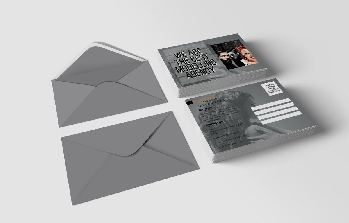 Professional Models Agency PostCard, Slide 2, 08686, Business — PoweredTemplate.com