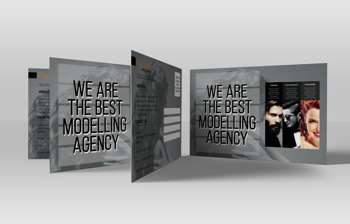 Professional Models Agency PostCard, Slide 3, 08686, Business — PoweredTemplate.com