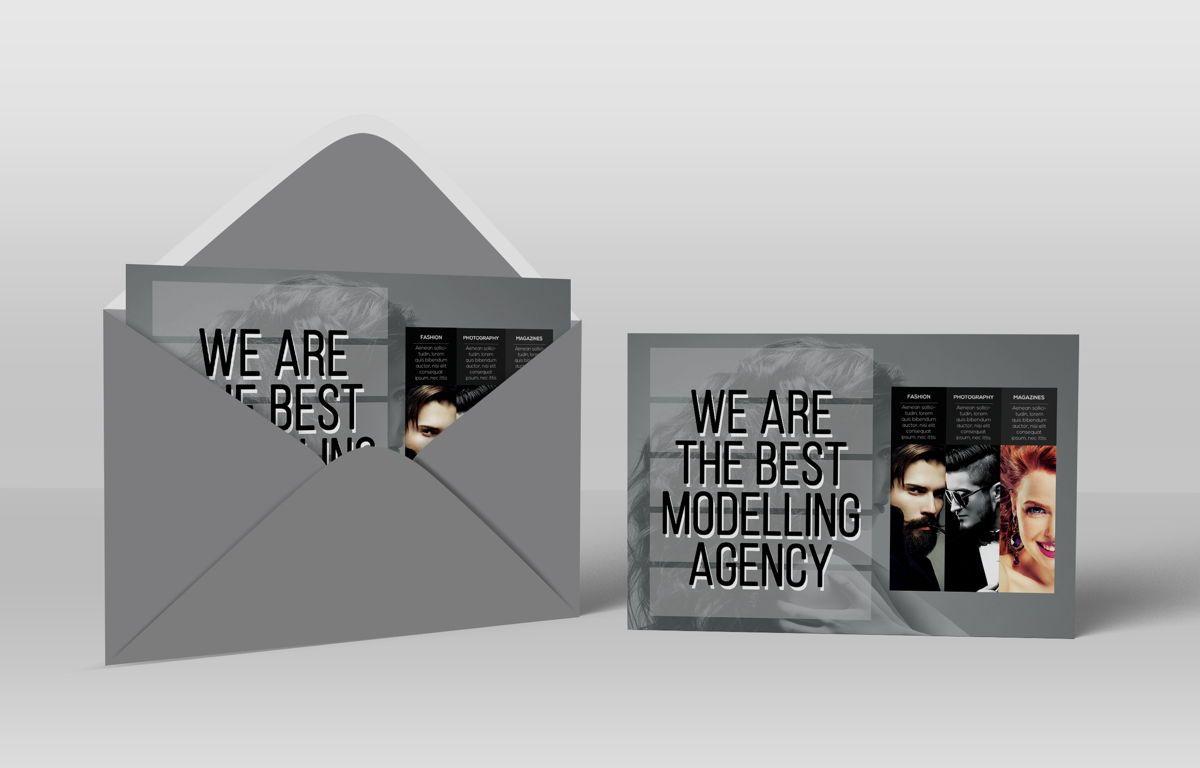 Professional Models Agency PostCard, Slide 4, 08686, Business — PoweredTemplate.com