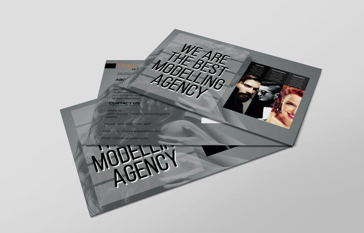 Professional Models Agency PostCard, Slide 6, 08686, Business — PoweredTemplate.com
