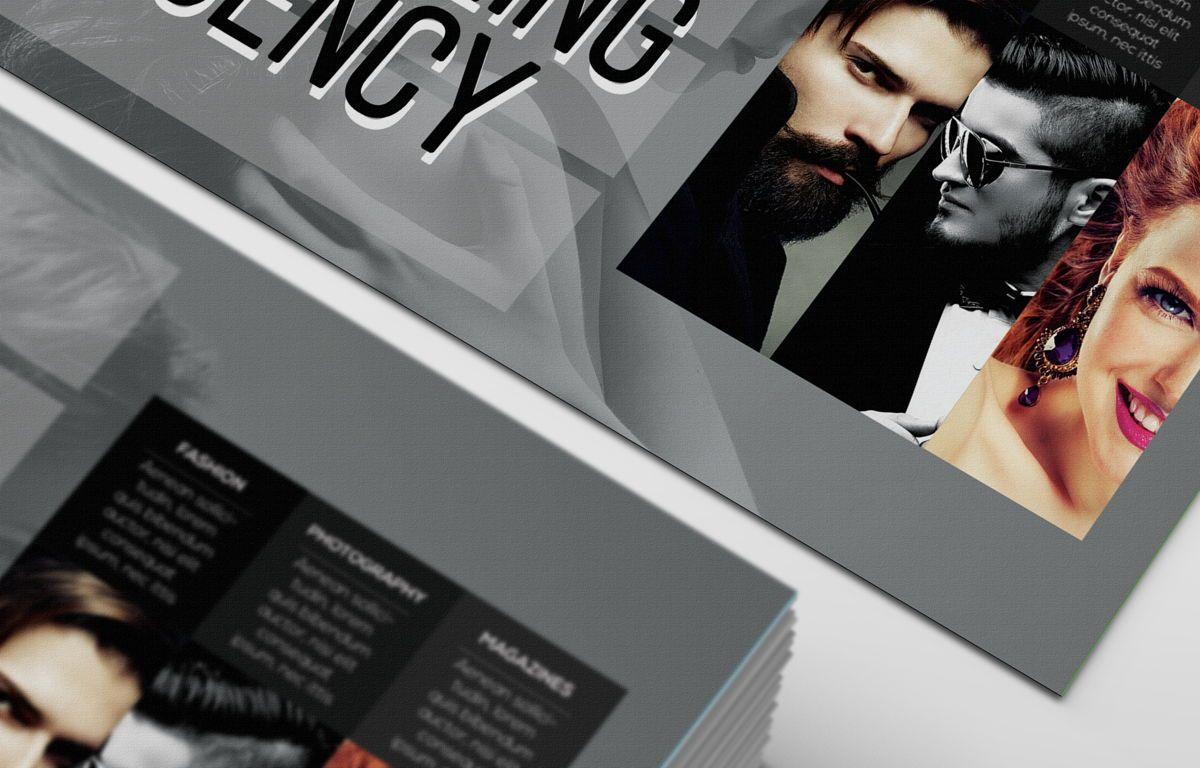 Professional Models Agency PostCard, Slide 7, 08686, Business — PoweredTemplate.com