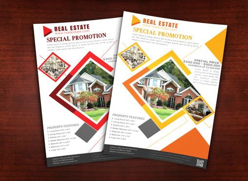 Business: Real Estate Flyer Template #08689