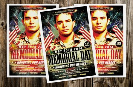 Holiday/Special Occasion: Memorial Day Party Flyer #08690