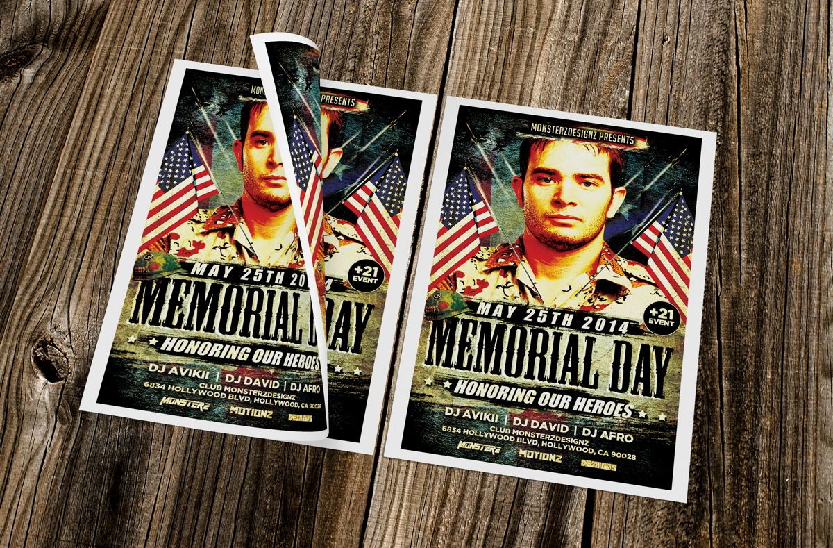 Memorial Day Party Flyer, Slide 2, 08690, Holiday/Special Occasion — PoweredTemplate.com