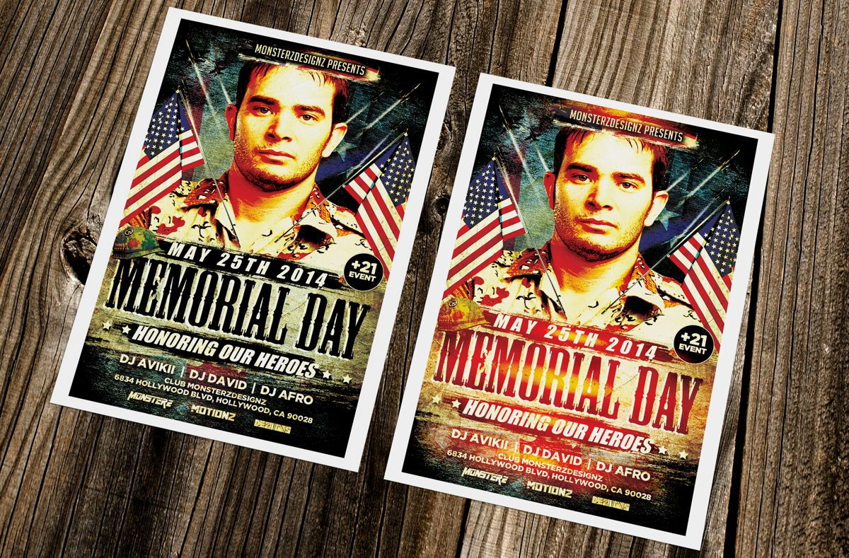 Memorial Day Party Flyer, Slide 3, 08690, Holiday/Special Occasion — PoweredTemplate.com