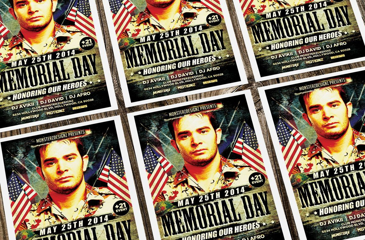 Memorial Day Party Flyer, Slide 4, 08690, Holiday/Special Occasion — PoweredTemplate.com
