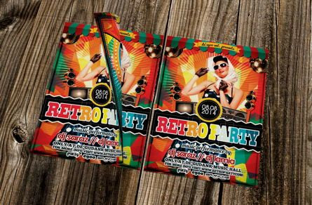 Art & Entertainment: Retro Party Flyer Template #08692