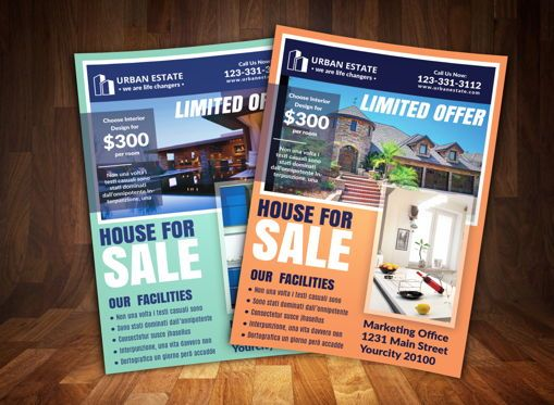 Business: Real Estate Flyer Template #08694