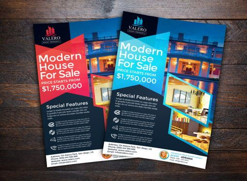 Business: Real Estate Flyer Template #08695