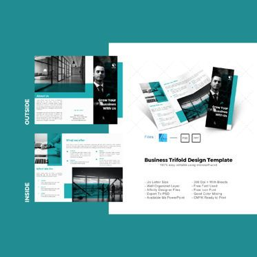 Business: Multipurpose minimal trifold brochure design template #08696