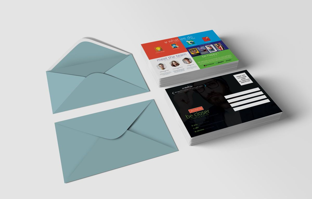 Creative Corporate Service PostCard, Slide 2, 08697, Art & Entertainment — PoweredTemplate.com