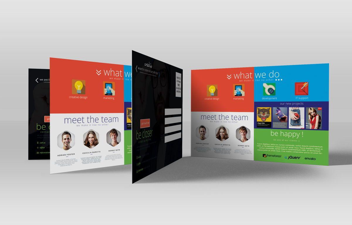Creative Corporate Service PostCard, Slide 3, 08697, Art & Entertainment — PoweredTemplate.com