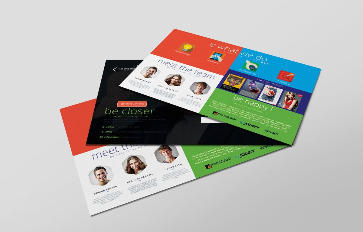 Creative Corporate Service PostCard, Slide 6, 08697, Art & Entertainment — PoweredTemplate.com