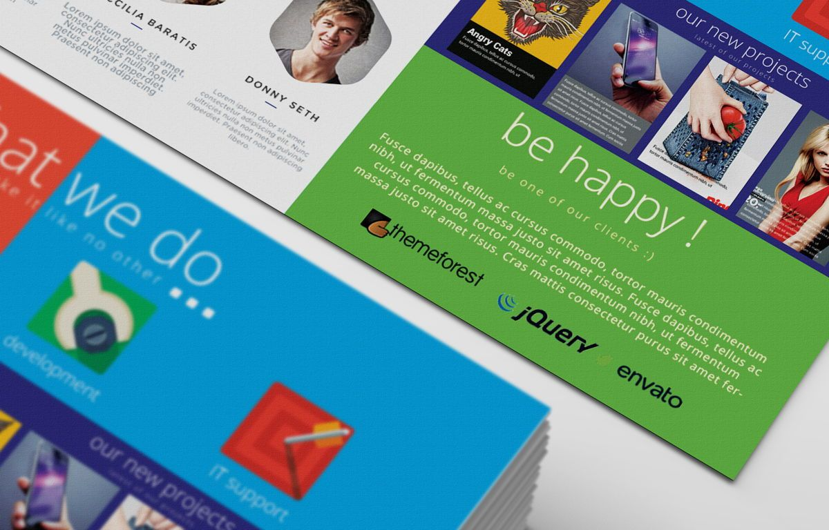 Creative Corporate Service PostCard, Slide 7, 08697, Art & Entertainment — PoweredTemplate.com
