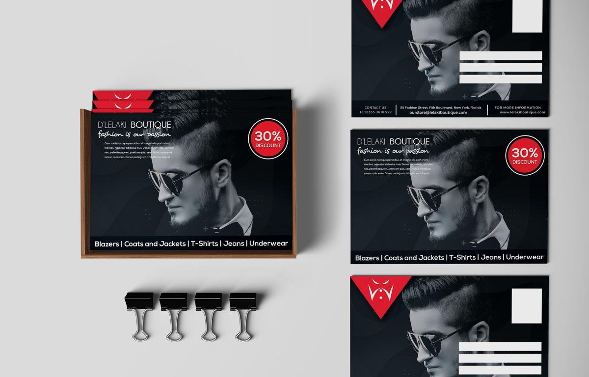 Fashion Boutique Promotion PostCard, 08700, Business — PoweredTemplate.com