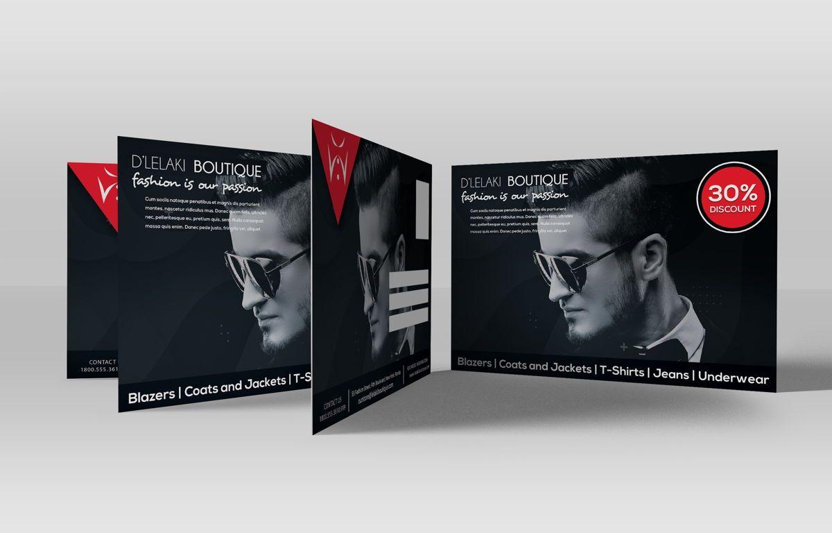 Fashion Boutique Promotion PostCard, Diapositive 2, 08700, Business — PoweredTemplate.com