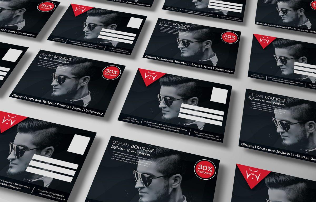 Fashion Boutique Promotion PostCard, Diapositive 3, 08700, Business — PoweredTemplate.com