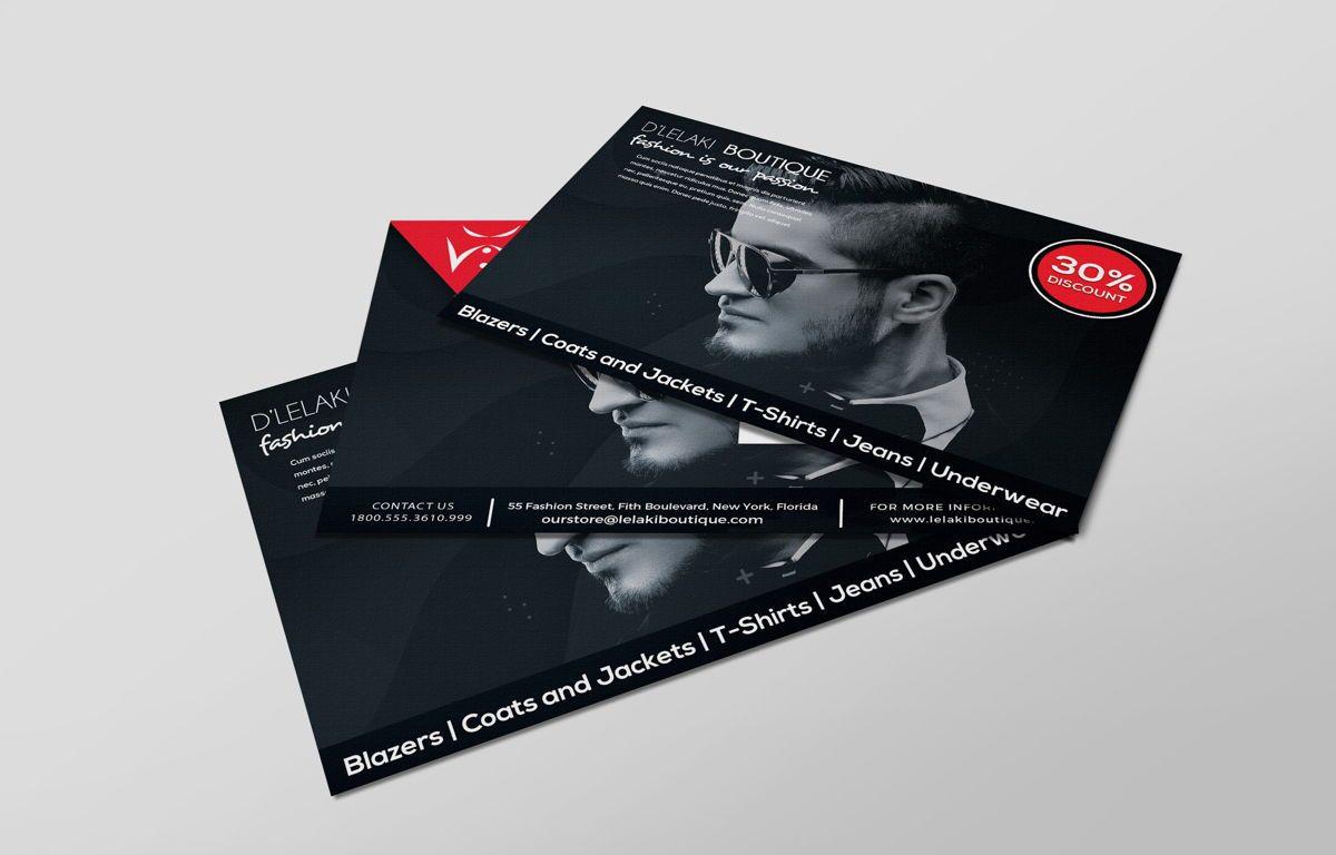 Fashion Boutique Promotion PostCard, Diapositive 4, 08700, Business — PoweredTemplate.com