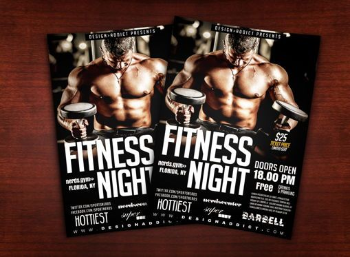 Sports: Fitness Night Sports Flyer #08701