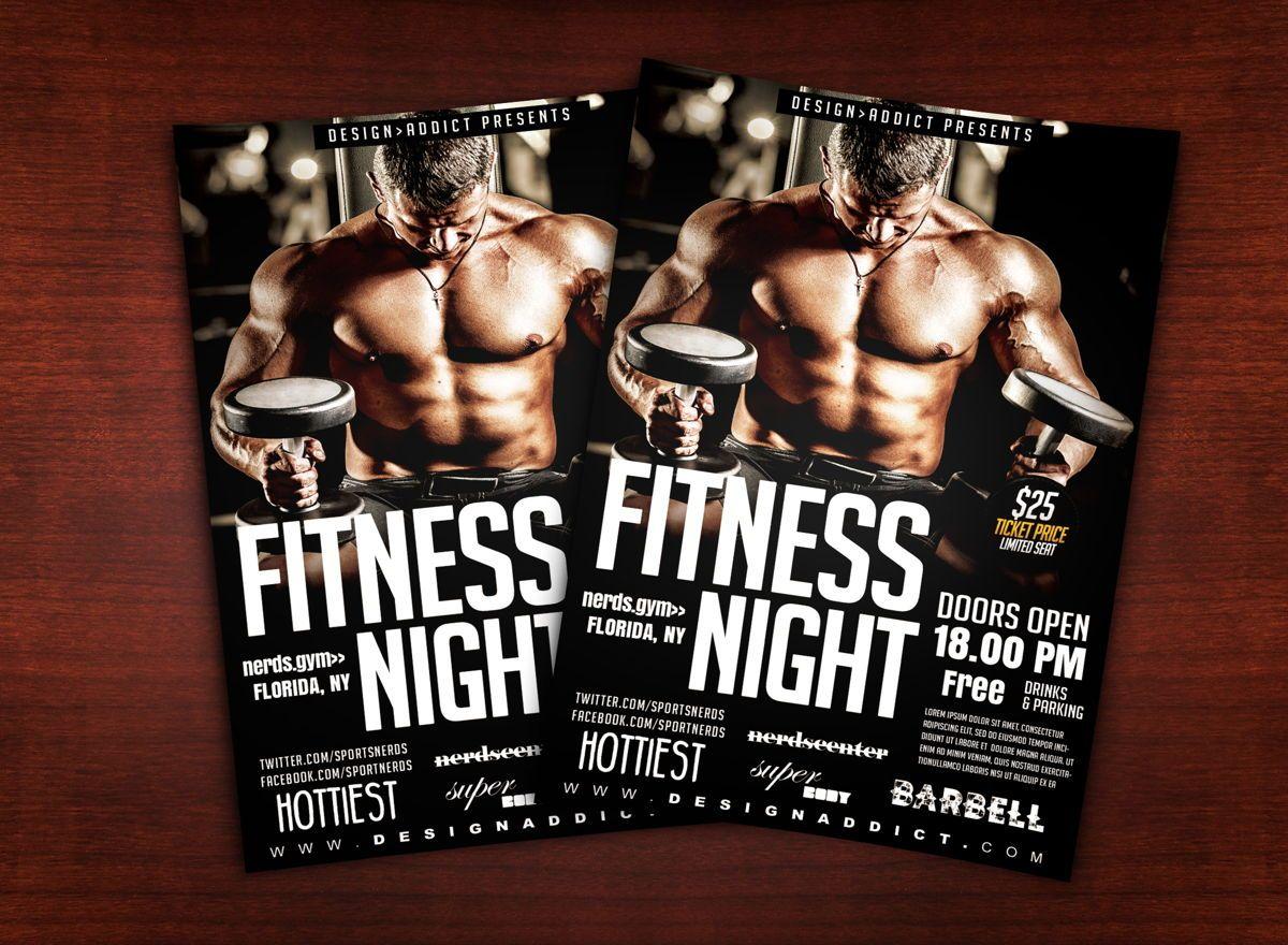 Fitness Night Sports Flyer, 08701, Sports — PoweredTemplate.com