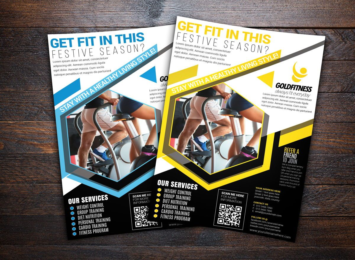 Fitness Sports Flyer Template, 08702, Sports — PoweredTemplate.com