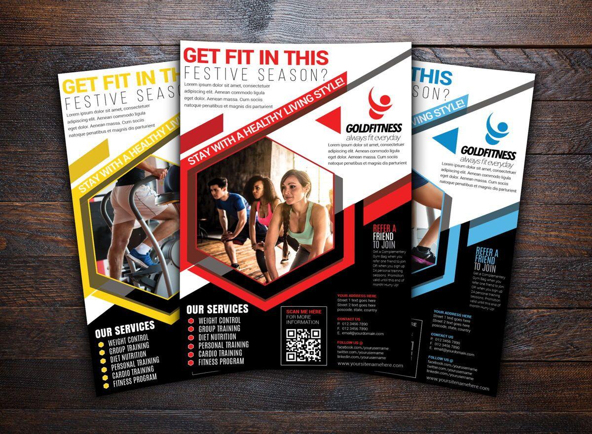 Fitness Sports Flyer Template, Slide 2, 08702, Sports — PoweredTemplate.com