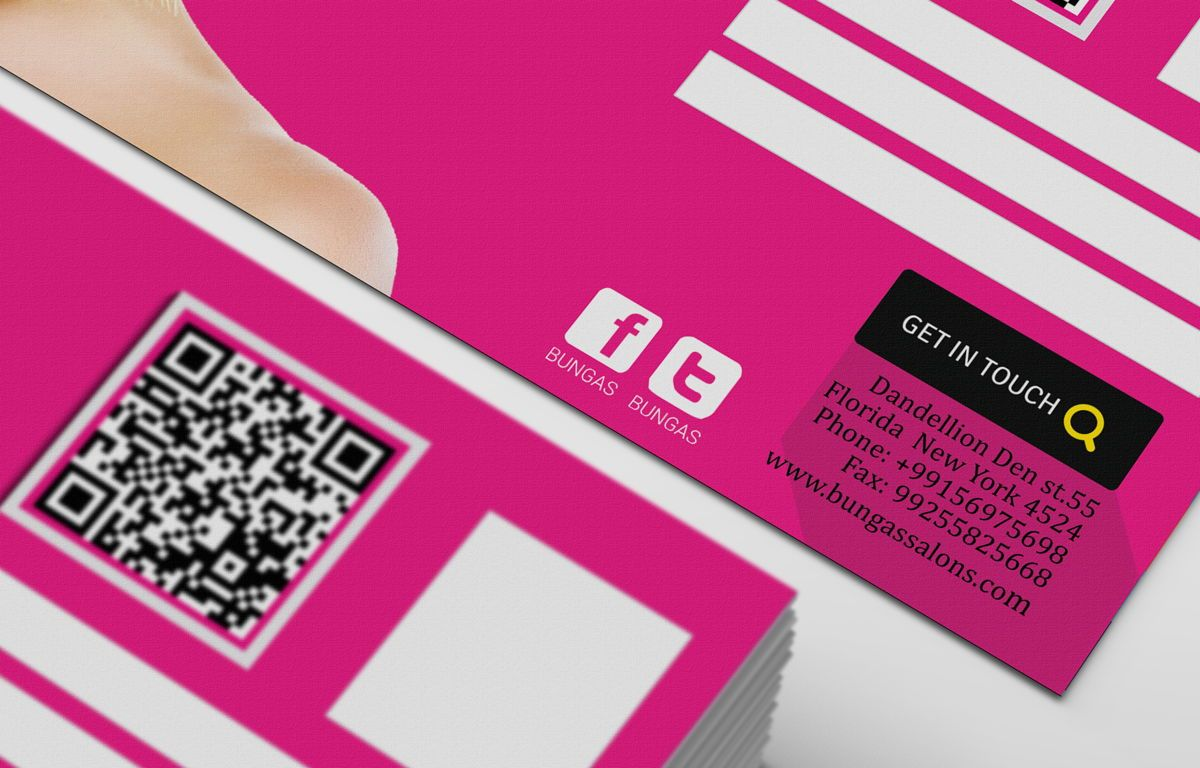 Flat Style Beauty Salons PostCard, Slide 5, 08703, Business — PoweredTemplate.com