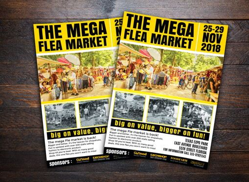 Business: Flea Market Flyer Template #08704