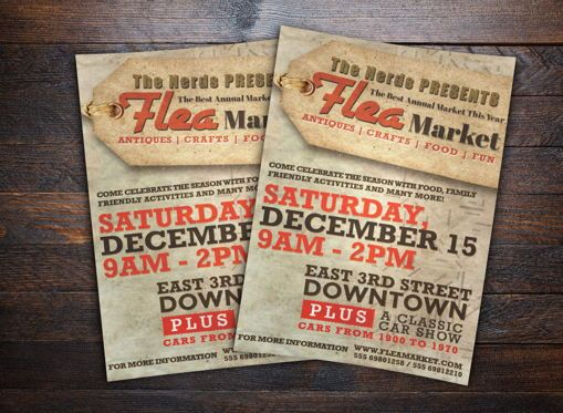 Business: Flea Market Flyer Template #08705