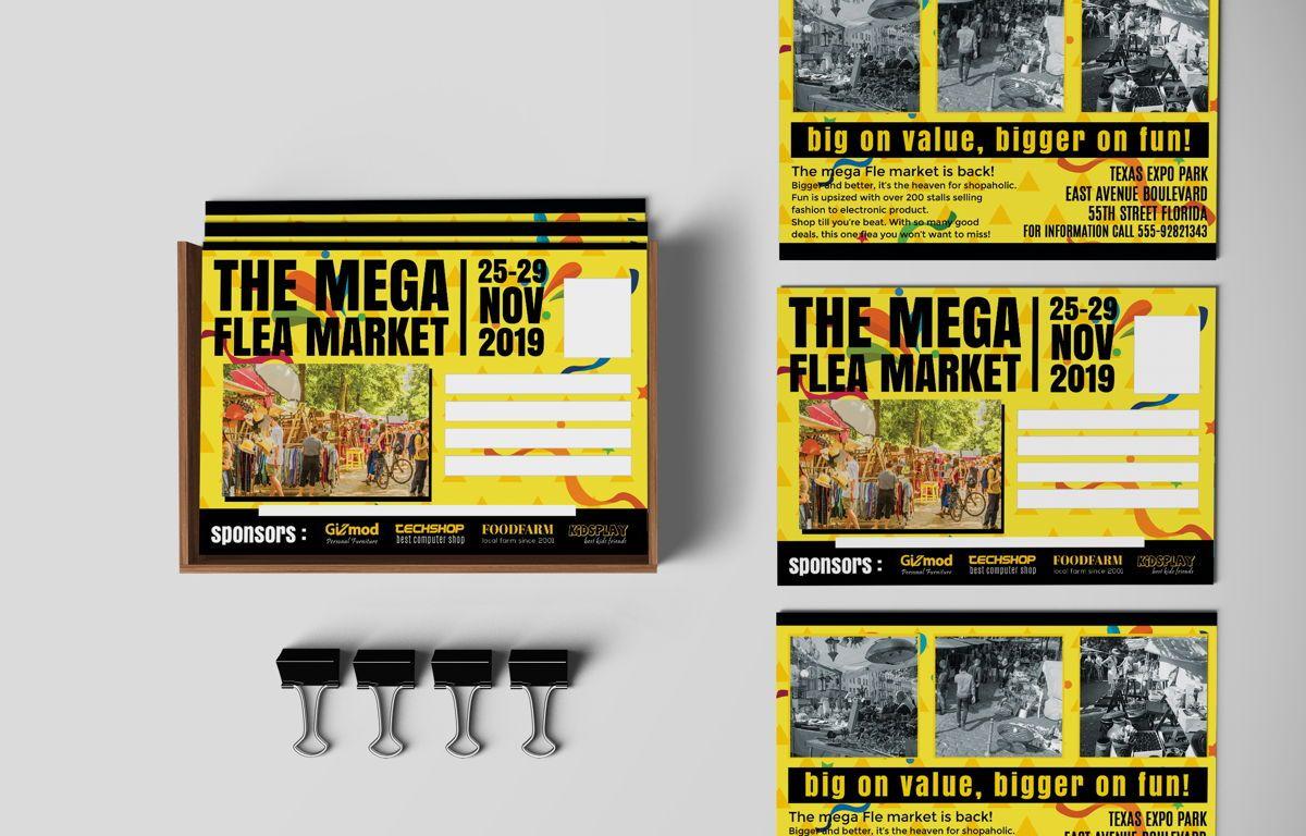 Flea Market PostCard, 08706, Business — PoweredTemplate.com