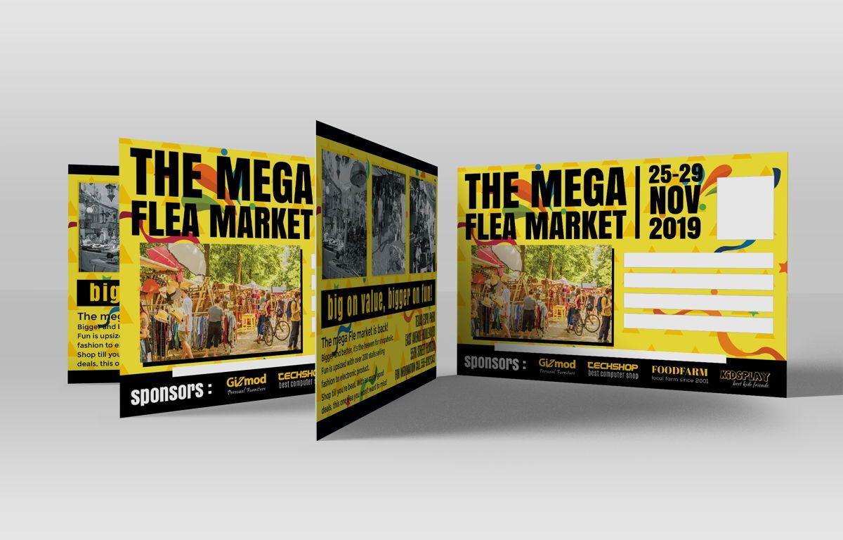 Flea Market PostCard, Slide 2, 08706, Business — PoweredTemplate.com
