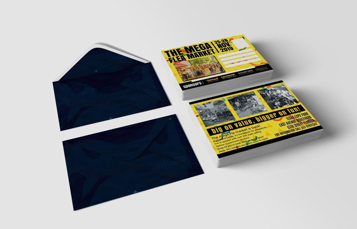 Flea Market PostCard, Slide 5, 08706, Business — PoweredTemplate.com