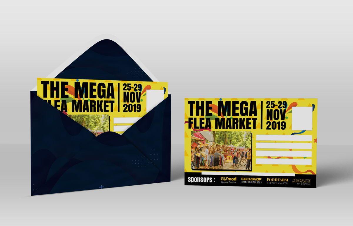 Flea Market PostCard, Slide 6, 08706, Business — PoweredTemplate.com